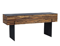 Interlocked Reclaimed Wood Console