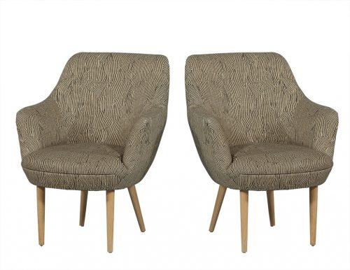 Modern Upholstered Arm Chairs