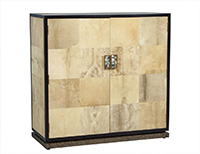 Lacquered Goat Skin Cabinet