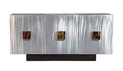 Retro Frosted Metal Buffet