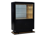 Black High Gloss Art Deco Cabinet