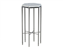 Delicate Hexagonal Marble Accent Table