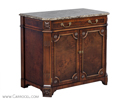 Mahogany Marble Top Chest Cabinet