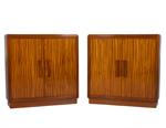 Compact Art Deco Sapele Wood Armoires