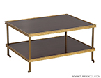 Edwardian Brass Cocktail Table by American Designer