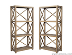 Pair of Cerused Oak Etageres by American Designer