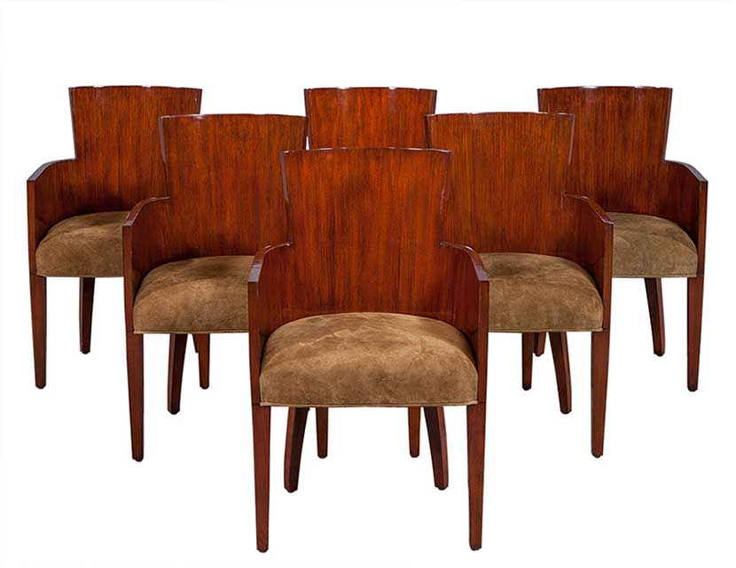 High end dining room furniture tables chairs and more for Dining room end chairs