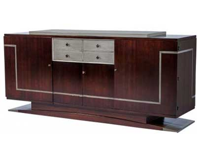 French art deco rosewood and slate grey sideboard circa 1940