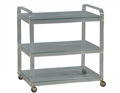 French Vintage Lucite Serving Cart