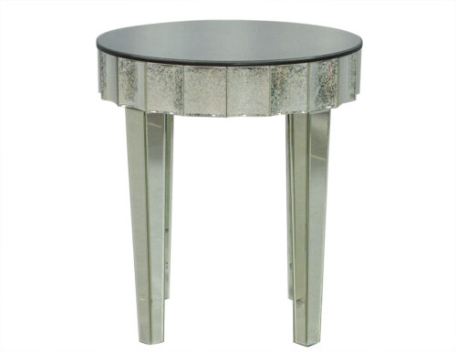 Round Antique Glass End Table