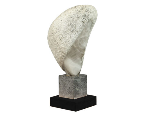 Hand Carved Stylized Stone Sculpture by Daniel Pokorn