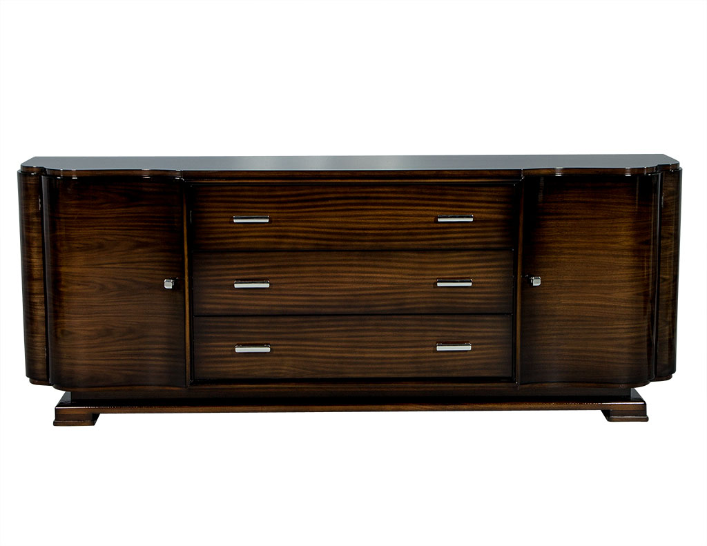 carrocel custom art deco style walnut sideboard buffet carrocel fine furniture. Black Bedroom Furniture Sets. Home Design Ideas