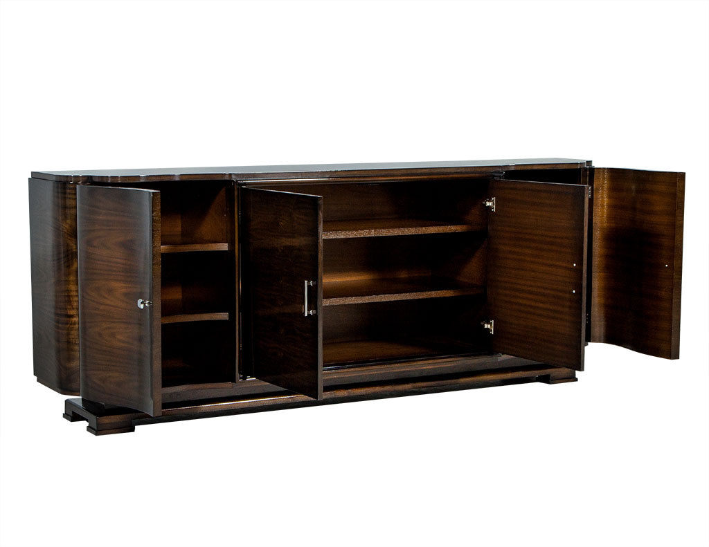 carrocel custom art deco style walnut sideboard buffet. Black Bedroom Furniture Sets. Home Design Ideas
