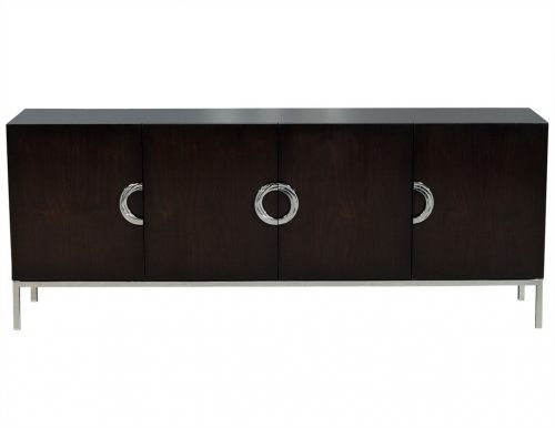 Carrocel Custom Modern Walnut Sideboard