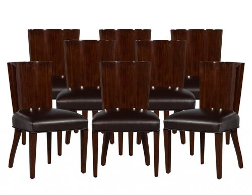 Set of 8 Ralph Lauren Modern Hollywood Dining Side Chairs