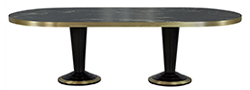 Modern Dining Table with Titanium Marble Top