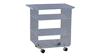 Chic Lucite Storage Cart
