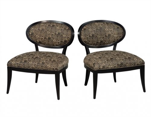 Pair of Oval Back Accent Chairs