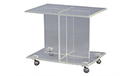 Lucite Accent Table on Castors