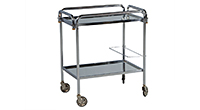 Mid-Century Modern Chrome Serving Cart