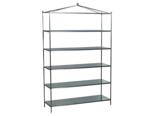 Stainless Steel Antiqued Mirrored Etagere