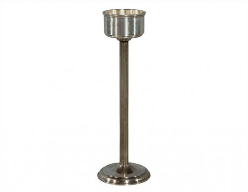 French Deco Style Silver Plate Wine Cooler