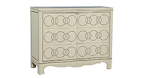 Modern Linen-Wrapped Cabinet