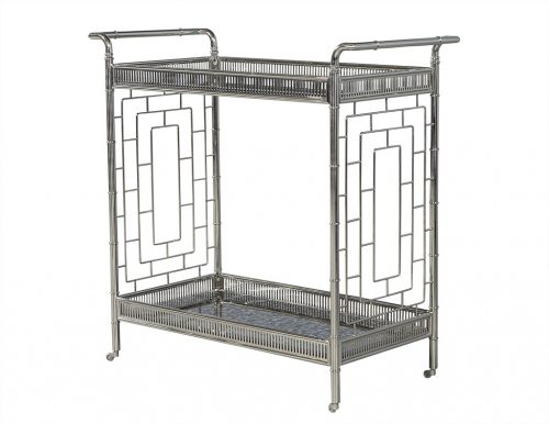 Polished Stainless Steel Bar Cart Trolley