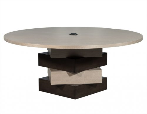 Carrocel Custom Modern Round Dining Conference Table