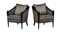 Pair of Art Deco Lounge Chairs by Baker