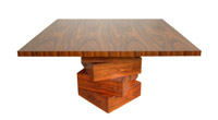 Custom Square Modern EJ Victor Rosewood Dining Table