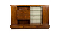 French Mid-Century Modern Rosewood Wall Unit