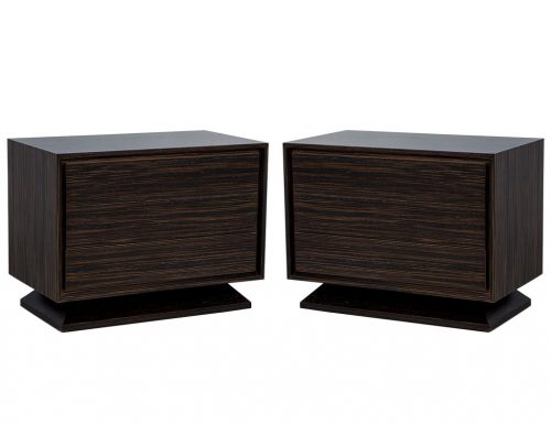 Pair of Carrocel Custom Thea Macassar Nightstands