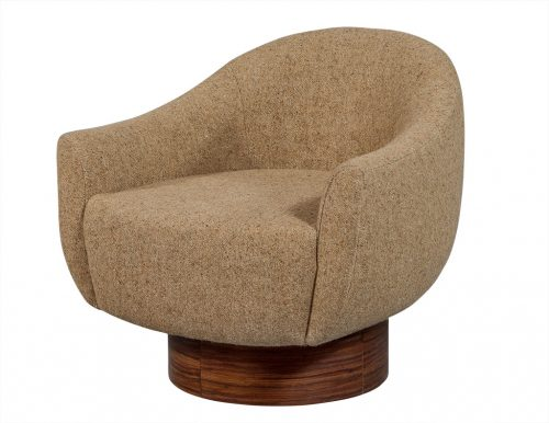 Mid Century Modern Inspired Swivel Lounge Chair