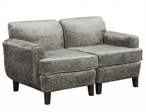 Opposing Lounge Chairs in Plush Grey