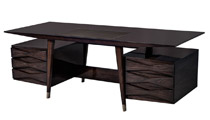 Carrocel Custom Floating-Top Mid-Century Executive Desk