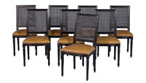 Custom Louis Capet Side Chairs – Set of 8