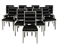 Deco Style Roll Back Dining Chairs