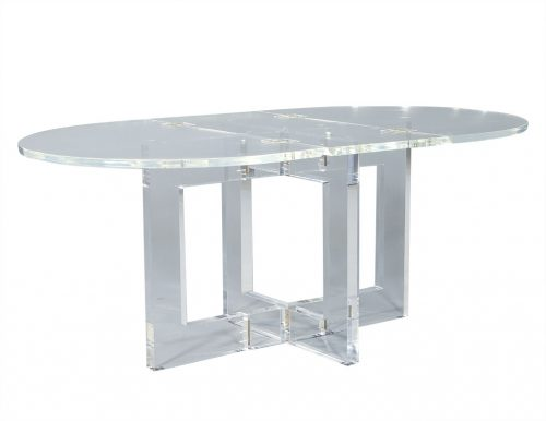 Original Acrylic Vintage Modern Drop Leaf Table