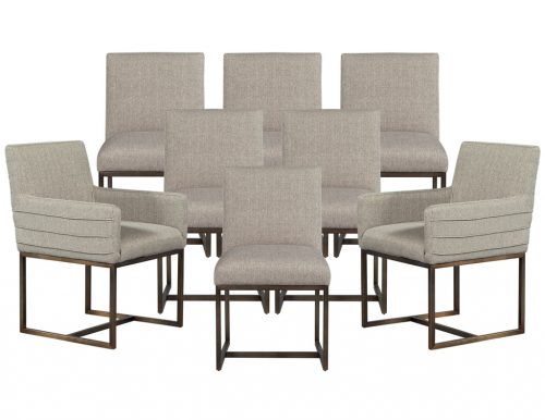 Set of 8 Modern Brass Dining Chairs