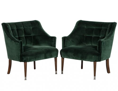 Pair of Restored Mid-Century Lounge parlour Chairs