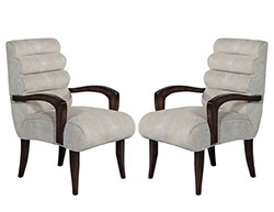 Pair of Art Deco 1940s Restored Accent Chairs
