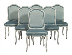 Louis XV Style Upholstered Dining Chairs Set