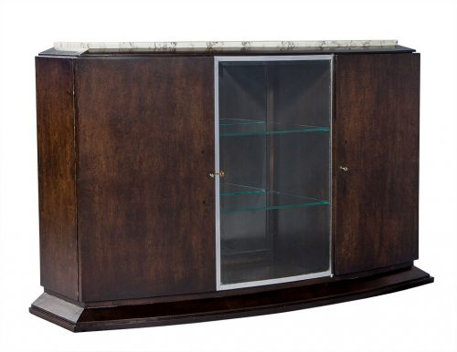 French Art Deco Marble Top Sideboard