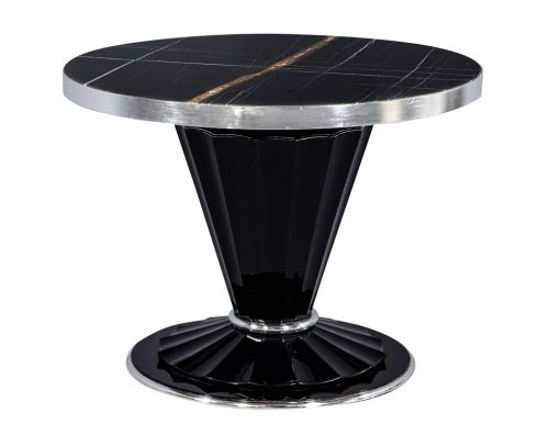 Carrocel Custom Art Deco Style Marble Top Table