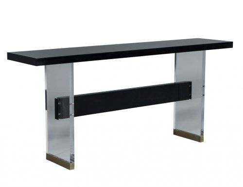 Carrocel Custom Acrylic and Walnut Modern Console