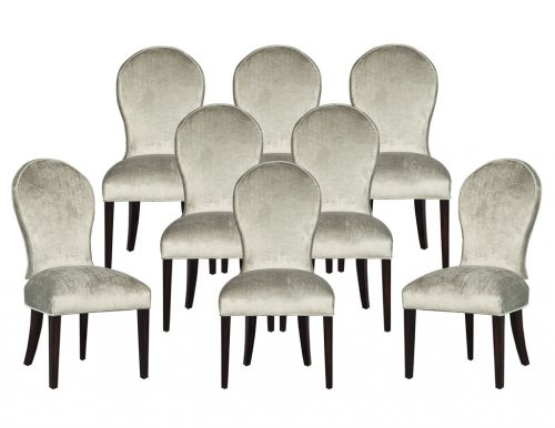 Set of 8 Carrocel Custom Modern Spoon Back Dining Chairs