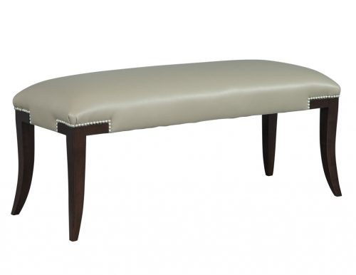 Carrocel Custom Leather Sabre Leg Studded Bench