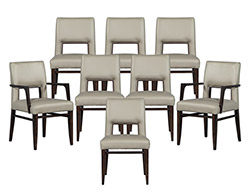 Set of 8 Carrocel Custom Finito Dining Chairs