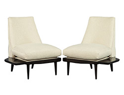 Unique Pair of Mid Century Modern Lounge Chairs